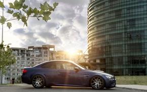 Картинка BMW, Тюнинг, Синяя, БМВ, Диски, E92, Deep Concave