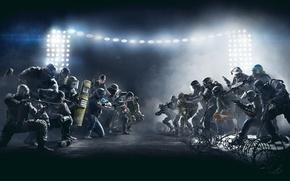 Обои Пистолет, Полиция, Свет, Оружие, Щит, Коп, Бандиты, Дробовик, Спецназ, Экипировка, Штурм, Ubisoft Entertainment, Полицейский, Террористы, ...