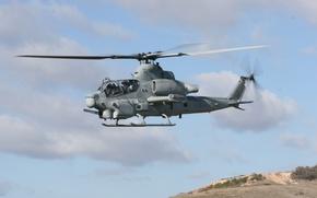 Картинка облака, вертолёт, лопасти, viper-hr, AH-1