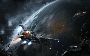 Картинка Space, EVE, Spaceship, Dust, Dust 514, CCP
