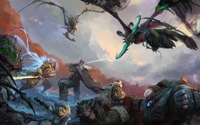 Картинка Heroes of the Storm, orc, Illidan Stormrage, Evolution Master, diablo, Warcraft, arthas, Abathur, starcraft, zerg, …