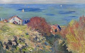 Обои Клод Моне, картина, Пурвиль, пейзаж