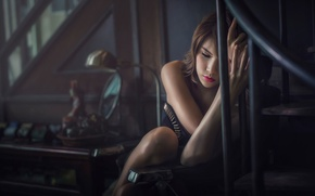 Картинка грусть, одиночество, портрет, обработка, макияж