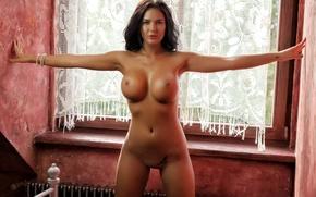 Обои sexy, nipples, boobs, nude, Kendra