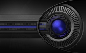 Обои eye, rotor, глаз, ротор, синий, blue