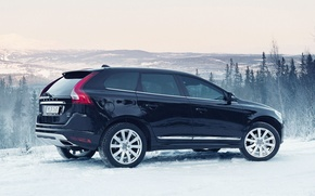 Картинка Горы, Volvo, Снег, Лес, Вольво, XC60