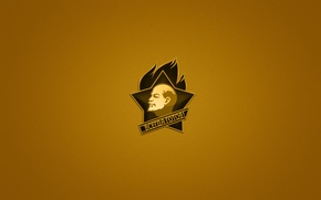 Картинка надпись, значок, минимализм, ленин, всегда готов, пионеры, темно-желтый фон