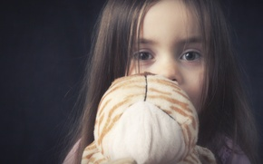 Картинка дети, игрушка, девочка