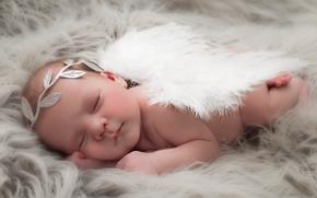 Картинка уют, ангел, младенец