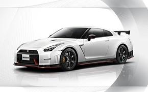 Картинка Nissan, white, GT-R, R35, Nismo