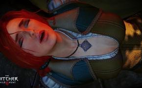 Картинка Медальон, Красные волосы, the witcher 3 wild hunt, Triss
