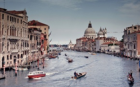 Картинка Italy, Venice, boats, gondolas, The Grand Canal