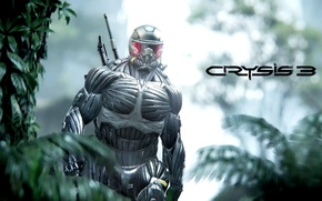 Обои Helmet, Nanomed, CryEngine, Critek, Game, Crysis, Weapon, Crysis 3, SCI Fi, Nanosuit, Hunter, Jungle, Soldier
