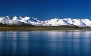 Картинка снег, горы, тундра