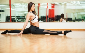 Обои brunette, yoga, pose, workout