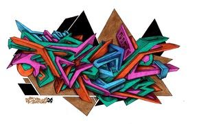 Картинка граффити, wild style, FireX