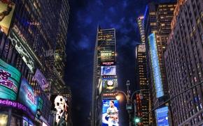 Картинка ночь, огни, реклама