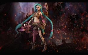 Картинка девушка, оружие, League of Legends, Jinx, Loose Cannon