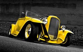 Картинка ретро, Ford, Кабриолет, Форд, классика, 1932, Convertible