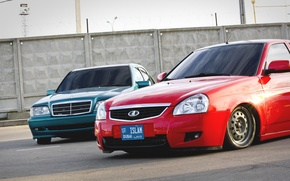Обои Lada, Приора, БПАН, Авто, Лада, auto, машина, Без Посадки Авто Нет, ВАЗ, Priora, Mercedes