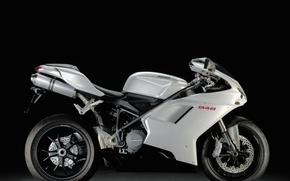 Картинка белый, Мотоцикл, ducati