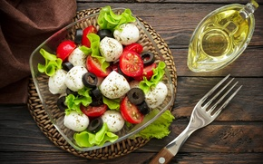 Картинка помидоры, масло, food, капрезе, моцарелла, базилик, caprese, салат, salad, сыр, закуска