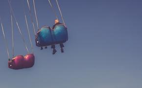Картинка sky, playing, enjoying, carousel, older man