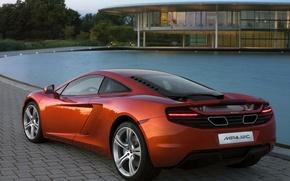 Обои McLaren, MP4, Дом, Вода