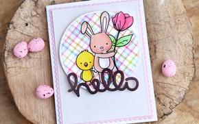 Картинка Пасха, поздравление, открытка, easter, card, greeting