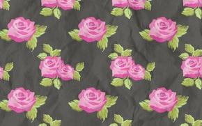 Картинка цветы, розы, текстура, ярко