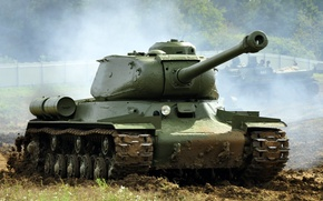 Картинка танк, ИС-2, тяжелый, советский, Иосиф Сталин, WW2, 122 мм