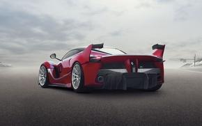 Картинка фон, Феррари, Ferrari, суперкар, вид сзади, FXX K