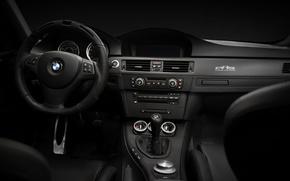 Обои стекло, кабина, торпеда, тахометр, сиденья, спидометр, приборы, вид, датчики, коробка передач, машина, руль