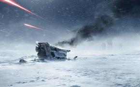 Картинка снег, игры, снегоход, Electronic Arts, AT-AT, DICE, Хот, star wars battlefront, Hoth