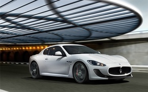 Картинка белая, white, auto, мазерати, Maserati GranTurismo 2012