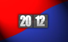Картинка синий, красный, полоса, новый год, 2012, 2013