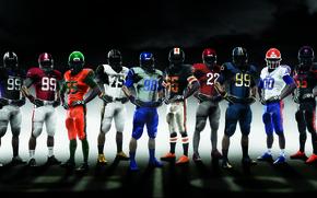 Картинка спорт, форма, Американский футбол, Nike Pro combat 2010, NCAA