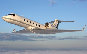 Обои США, самолёт, двухмоторный, средний, турбовентиляторный, бизнес-класса, Gulfstream G450