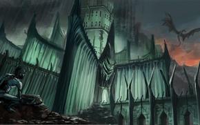 Картинка камни, властелин колец, арт, крепость, горлум, nazgul, lord of the rings, моснтр, gollum, lucfonzy, smeagol, …