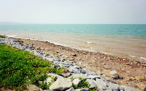 Картинка beach, sea, blue, evening, sand, port, sensational, malaysia, dickson