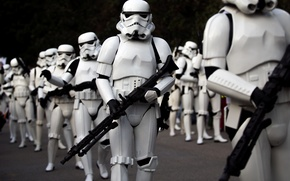 Картинка Star Wars, cosplay, fans, stornttopper uniform laser weapons, super army