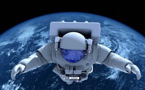 Картинка поля, арт, звездного, гравитация, атмосфера, красотища, невесомость, исследования, космос, бесконечность, космонавт, astronaut, открытый, Земля, научные, ...