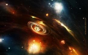 Картинка космос, свет, планеты, спираль