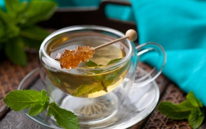 Обои black tea, green tea, macro, candy, Tea