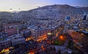 Картинка свет, улица, фонари, архитектура, старый город, Сирия, Дамаск