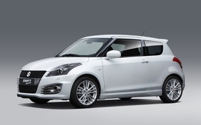 Картинка sport, white, suzuki, swift