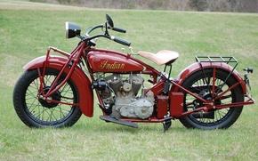 Картинка Indian, мощность, 1920г., мотоцикл, 1919-1949гг., долго, мотоцикла, производился, нижнеклапанный, 11 л.с., создан, двигатель, модель, moto, ...