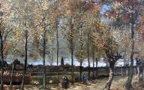 Картинка картина, Paris, Rotterdam, Vincent Van Gogh, 1885, Poplars near Nuenen