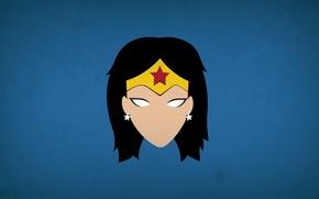 Картинка минимализм, Wonder Woman, DC Comics, blo0p