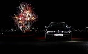 Картинка фары, БМВ, фейерверк, black, BMW 3 Series